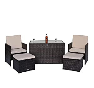 polyrattan gartenm bel 11 tlg rattan essgruppe. Black Bedroom Furniture Sets. Home Design Ideas