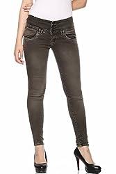 Fasnoya Women's 4-Buttons Jeans