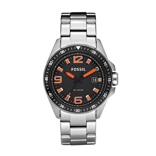 Fossil Decker Three Hand Black Dial Watch