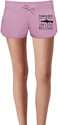 country-girls-dont-retreat-the-just-reload-slogan-las-damas-verano-sudor-shorts-summer-sweat-shorts-