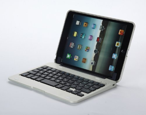 Carry360 The Best Price Wireless Bluetooth 3.0 Keyboard and Removable Case Cover for Ipad Mini (Silver)