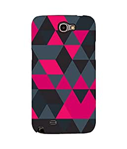 Geometric Pink Samsung Note 2 Case