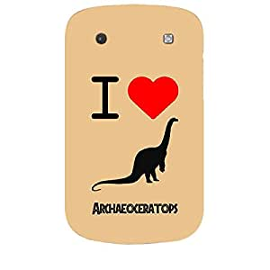 Skin4gadgets I love Archaeoceratops Colour - Coral Phone Skin for BOLT 9900