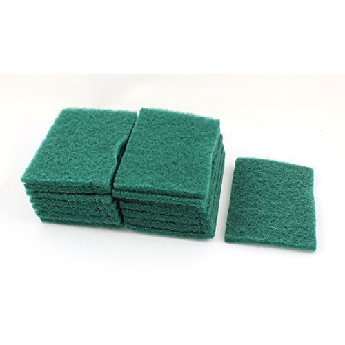 sourcingmap-sponge-kitchen-bowl-dish-wash-clean-scrub-cleaning-pads-15pcs-green