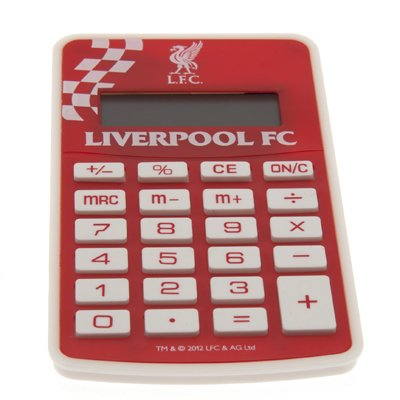 Official Liverpool FC Pocket Calculator - A Great Christmas, Birthday, Valentine, Anniversary Gift For Husbands, Fathers, Sons, Boyfriends, Friends and Any Avid Liverpool Football Club Fan Supporter