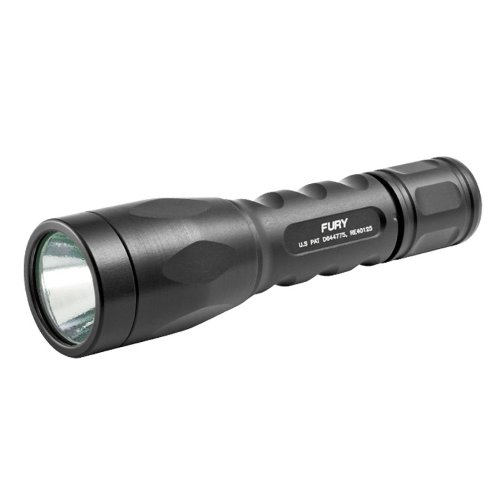 Surefire P2X Fury - Tactical, Ultra-High Output, Dual-Output Led Flashlight (15/500 Lumens/1.5-46 Hours) - 2012 Model - P2X-B-Bk Black