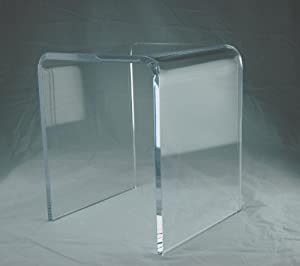 "Amazon 3 4"" Clear Acrylic Lucite Shower Bench"