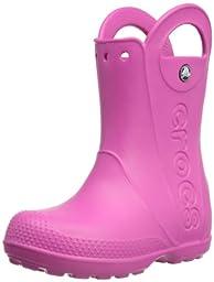 crocs Kids Handle It Rain Boot (Toddler/Little Kid),Fuchsia,12 M US Little Kid