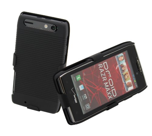 Aduro Shell Holster Combo Case for Motorola Droid RAZR, Droid RAZR MAXX w/Belt Clip Stand