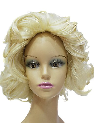[Wigs have an attractive convenience fashion Synthetic Japanese Kanekalon Marilyn Monroe Short Curly Hair Wig Capless Celebrity Hairstyles] (Danny Sandy Grease Costumes)