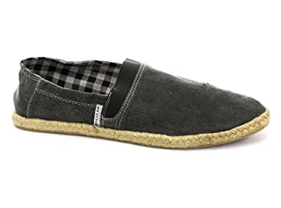 Dunlop Charcoal Elasticated Gusset Mens Slip On Espadrilles, Size 8