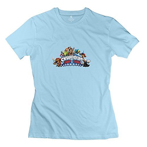 Skylanders Trap Team Cute Short Sleeve SkyBlue T Shirt For Adult Size M (Trap House Lil Wayne compare prices)