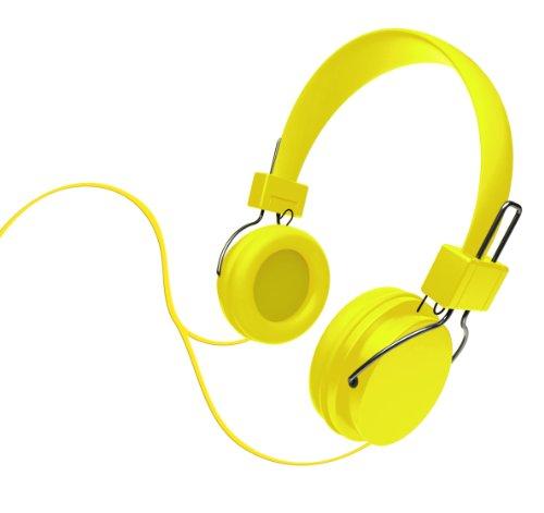 Ihip Ip-Djz16-Ny Dj Style Moveable Round Djz Color Series Headphone, Yellow