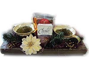 Buy pipes gift baskets. - Well Baskets Tea For Two Gift Tray