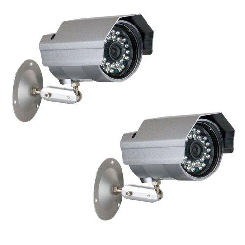 "Gw 2 X Professional 1/3"" Panasonic Ccd Outdoor Camera, 3.6Mm Lens, 700 Tv Lines, 30Pcs Ir Led, 82 Feet Ir Distance. Vandal Proof & Water Proof"