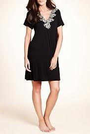 Per Una Cool Comfort Lace Neckline Swing Minishirt [T37-6259-S]