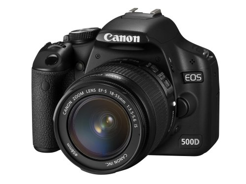 Canon EOS 500D Digital SLR Camera (incl. EF-S 18-55 mm IS Lens Kit) :  digital online digital cameras slr digital mp cameras