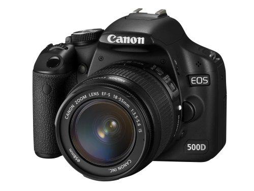 Canon EOS 500D Digital SLR Camera (incl. EF-S 18-55 mm IS Lens Kit)