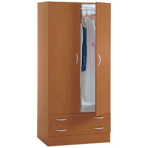 Armadio guardaroba legno kit due ante e due cassetti - Ikea armadio due ante ...