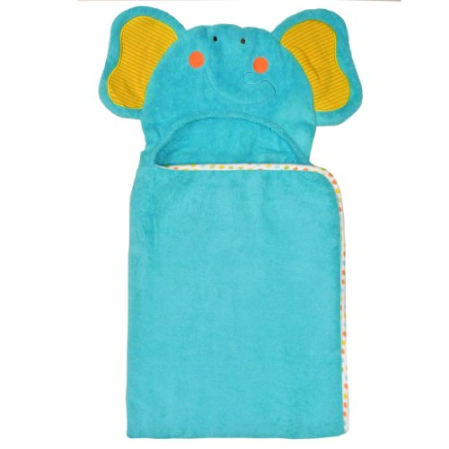 Neat Solutions 3D Applique Woven Terry Bath Wrap, Elephant