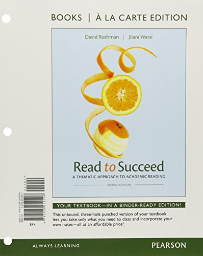 Read to Succeed: A Thematic Approach to Academic, Books a la Carte Plus NEW MyReadingLab with eText -- Access Card Packa