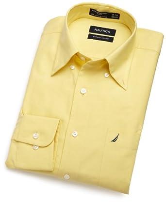 Nautica men 39 s vintage oxford button down dress shirt for Men s oxford button down shirts