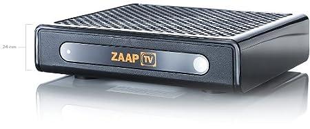 ZaapTV HD509N IPTV Boîte de rangement pour chaînes turc, grec arabes contrat sans aucun abonnement antenne