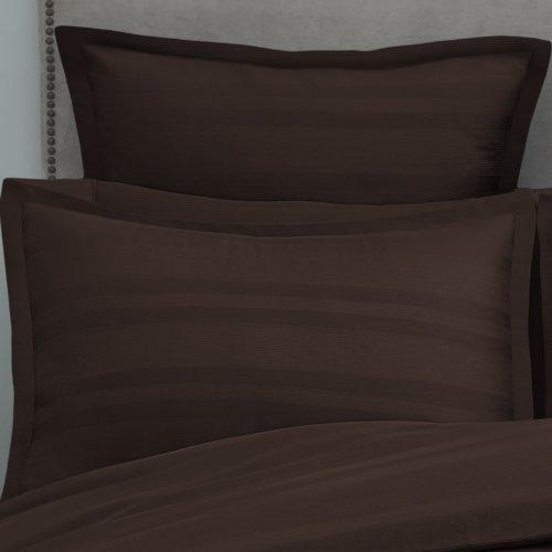 Modern Living 1C92111 Arezzo Stripe Sham, Euro, Chocolate front-876982