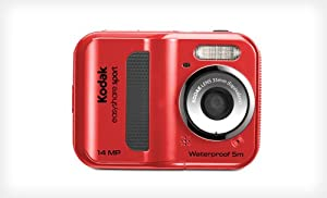 Kodak Sport C135 14MP Waterproof Digital camera Red with 5x optical zoom and 14 Mega Pixel