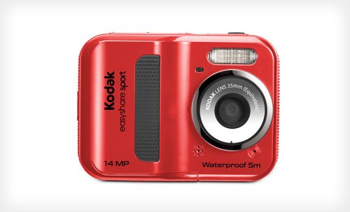 Kodak Sport C135 14MP Waterproof Digital camera with digital zoom (Red)