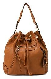 Scarleton Large Drawstring Handbag H107825 - Camel