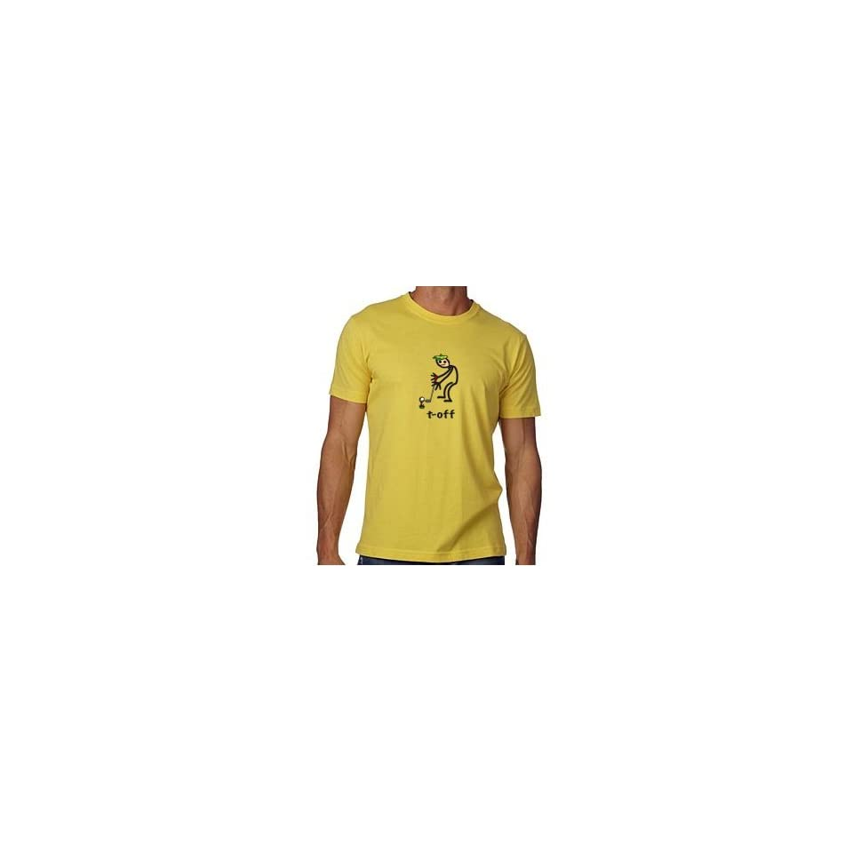 Stor in Style MUTMZ4 T off with green hat maize x large mens tee