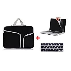 Laptop Sleeve,Go Crazzy Zipper Briefcase Soft Neoprene Handbag Sleeve Bag Cover Case for MACBOOK PRO 13.3 inch With Free LCD Clear Screen Protector Film Guard + Keyboard Protector