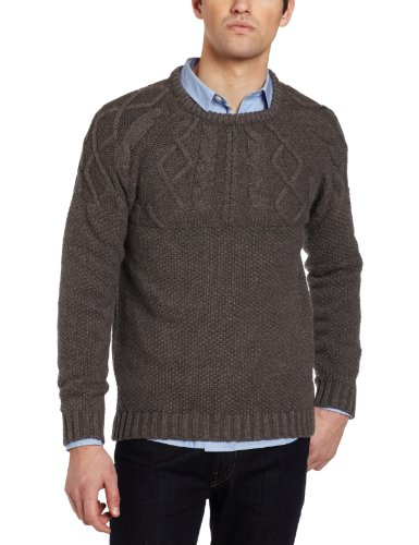 J.C. Rags Knitted Pullover 3211 1 Men's Jumper Urban Green Melange Medium