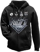 Kiss Army Faces Zip Hoodie - Medium