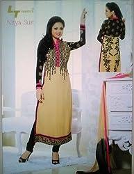 StarMart Beautiful Georgette LT Fabric Anarkali Suits