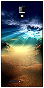Snoogg New World Sunshine Designer Protective Back Case Cover For Micromax Canvas Express A99