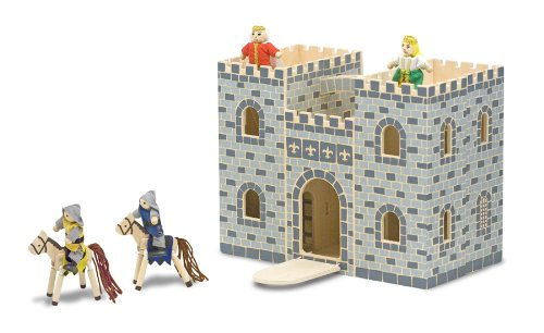 Melissa & Doug Fold and Go Wooden Castle