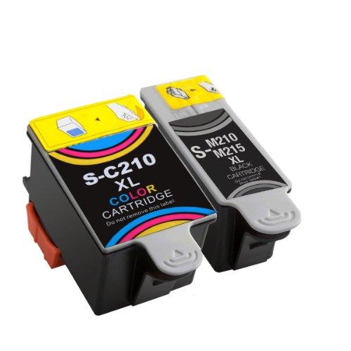 Druckerpatronen für Samsung CJX-1000 CJX-1050W CJX-2000FW Patronen kompatibel zu INK-M210 INK-C210 INK-M215 (1 Set)