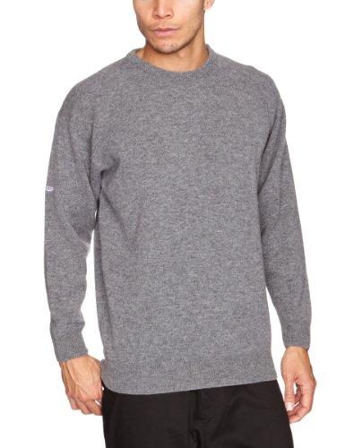Pro Quip - Maglia a girocollo idrorepellente in lana d'agnello, da uomo, nero (Grigio mix), XL