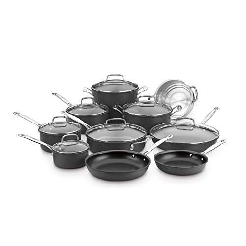 Cuisinart Chef's Classic Non-Stick Hard Anodized, 17Piece Set, Black (Chef Cuisinart compare prices)