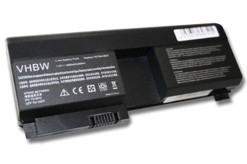 Batterie LI-ION 6600mAh 7.2V noir compatible pour HP Pavilion tx2025au, tx1013AU, tx1129EA etc. remplace 441131-001, 437403-541, HSTNN-XB37