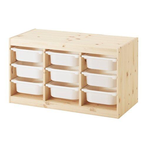 【IKEA/イケア】TROFAST 収納コンビネーション, パイン材, ホワイト