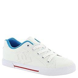 DC Women\'s Chelsea TX Skate Shoe, White/Red/Blue, 8.5 M US
