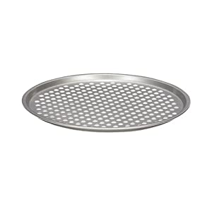 Patisse Nonstick Silver Top Crusty Pizza Tray, Silver Grey