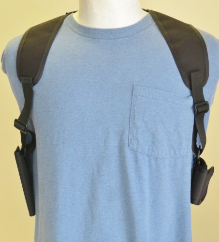 Best Price Cell Phone Double Shoulder Holster for Apple Iphone 4 & 5 with wallet Pouch