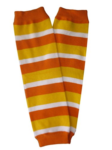 Kids Candy Corn Orange, Yellow and White Striped Leg Warmers (Candy Corn Leggings compare prices)