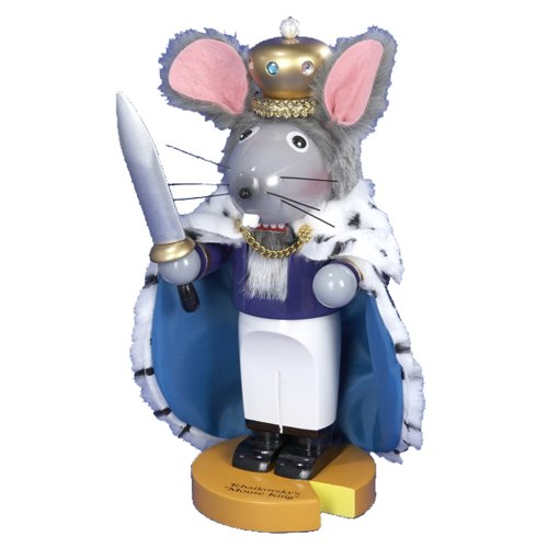 41pqt2SEVFL Kurt Adler 11 1/2 Inch Limited Edition Steinbach Chubby Mouse King Nutcracker