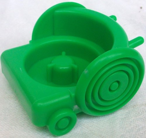 Fisher Price Little People Green Vehicle Trolley Cart Car Replacement Toy - 1