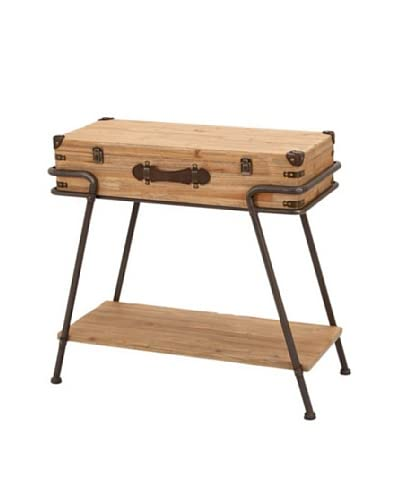 Industrial Accent Table, Brown